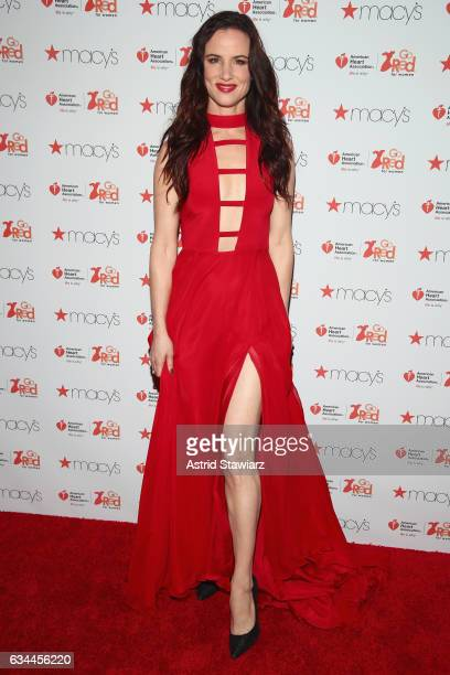 Actress Juliette Lewis attends the American Heart Association's Go Red For Women Red Dress Collection 2017 presented by Macy's at Fashion Week in New...