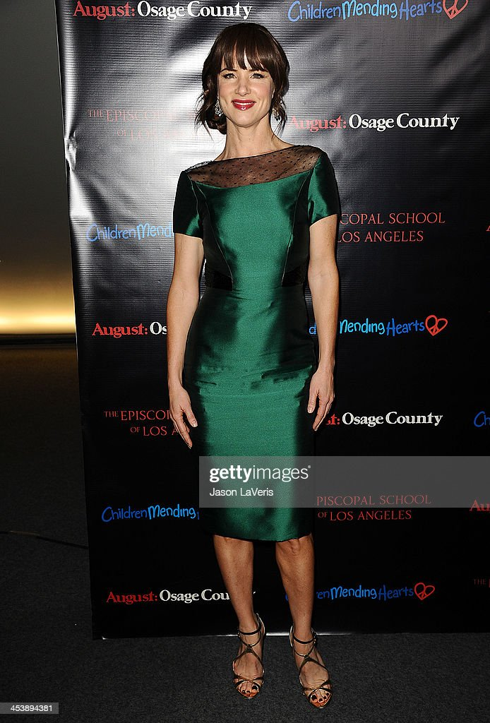 Actress <a gi-track='captionPersonalityLinkClicked' href=/galleries/search?phrase=Juliette+Lewis&family=editorial&specificpeople=202873 ng-click='$event.stopPropagation()'>Juliette Lewis</a> attends the 'August: Osage County' benefit screening at the Landmark Theater on December 5, 2013 in Los Angeles, California.