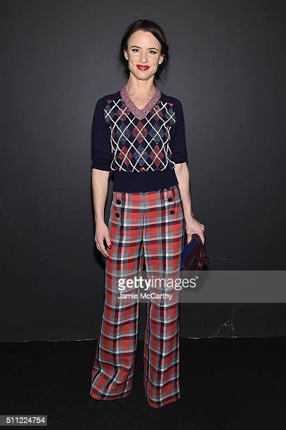Actress Juliette Lewis attends the Marc Jacobs Fall 2016 fashion show during New York Fashion Week at Park Avenue Armory on February 18 2016 in New...