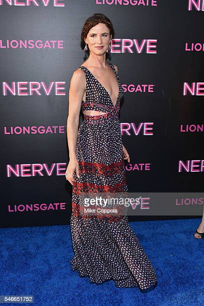 Actress Juliette Lewis attends the 'Nerve' New York Premiere at SVA Theater on July 12 2016 in New York City