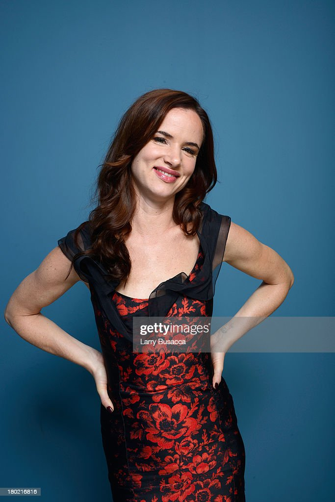 Actress <a gi-track='captionPersonalityLinkClicked' href=/galleries/search?phrase=Juliette+Lewis&family=editorial&specificpeople=202873 ng-click='$event.stopPropagation()'>Juliette Lewis</a> of 'August: Osage County' poses at the Guess Portrait Studio during 2013 Toronto International Film Festival on September 10, 2013 in Toronto, Canada.