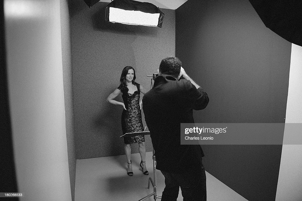 Actress <a gi-track='captionPersonalityLinkClicked' href=/galleries/search?phrase=Juliette+Lewis&family=editorial&specificpeople=202873 ng-click='$event.stopPropagation()'>Juliette Lewis</a> poses for a portrait with photographer Larry Busacca during the 2013 Toronto International Film Festival on September 10, 2013 in Toronto, Canada.