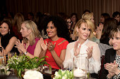 Actress Juliette Lewis producer Betsy Beers actresses Tracee Ellis Ross Sarah Paulson and Amanda Peet attend ELLE's Annual Women in Television...