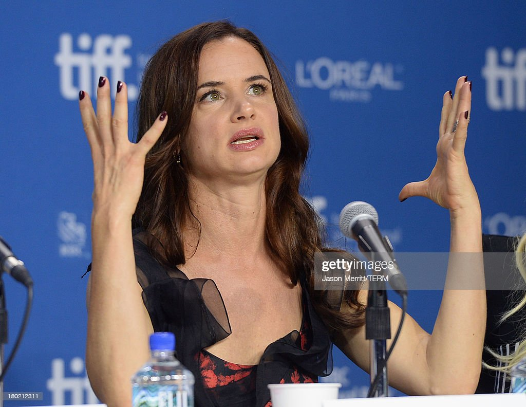 Actress <a gi-track='captionPersonalityLinkClicked' href=/galleries/search?phrase=Juliette+Lewis&family=editorial&specificpeople=202873 ng-click='$event.stopPropagation()'>Juliette Lewis</a> speaks onstage at 'August: Osage County' Press Conference during the 2013 Toronto International Film Festival at TIFF Bell Lightbox on September 10, 2013 in Toronto, Canada.
