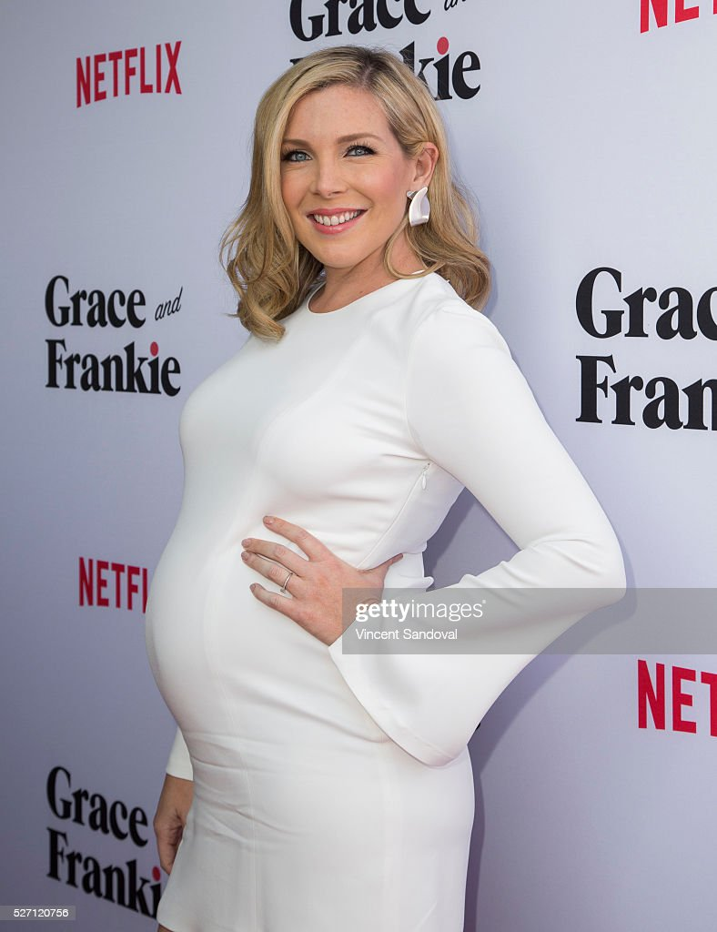 Actress <a gi-track='captionPersonalityLinkClicked' href=/galleries/search?phrase=June+Diane+Raphael&family=editorial&specificpeople=5923890 ng-click='$event.stopPropagation()'>June Diane Raphael</a> attends Netflix Original Series 'Grace & Frankie' season 2 premiere at Harmony Gold on May 1, 2016 in Los Angeles, California.