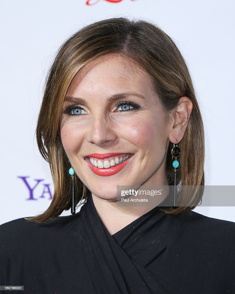 Actress June Diane Raphael attends the 'Burning Love' Season 2 Los Angeles Premiere at Paramount Theater on the Paramount Studios lot on February 5, 2013 in Hollywood, California.