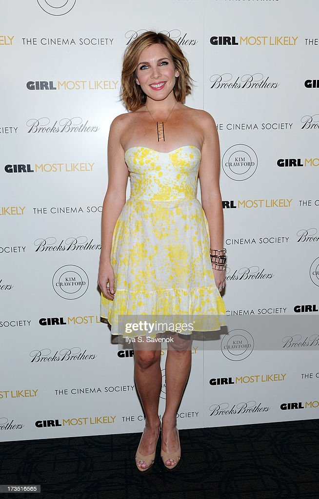 Actress June Diane Raphael attends The Cinema Society & Brooks Brothers Host A Screening Of Lionsgate And Roadside Attractions' 'Girl Most Likely's at Landmark Sunshine Cinema on July 15, 2013 in New York City.