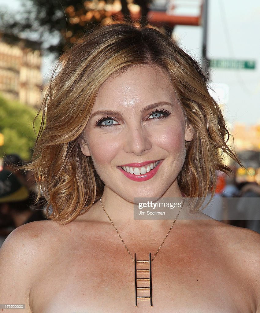 Actress <a gi-track='captionPersonalityLinkClicked' href=/galleries/search?phrase=June+Diane+Raphael&family=editorial&specificpeople=5923890 ng-click='$event.stopPropagation()'>June Diane Raphael</a> attends the Lionsgate And Roadside Attractions With The Cinema Society Screening Of 'Girl Most Likely' at Landmark's Sunshine Cinema on July 15, 2013 in New York City.