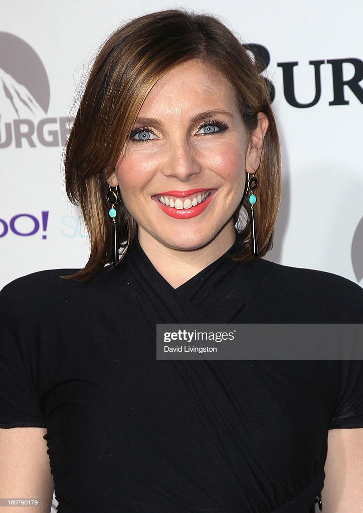 Actress June Diane Raphael attends the premiere of 'Burning Love' Season 2 at the Paramount Theater on the Paramount Studios lot on February 5, 2013 in Hollywood, California.
