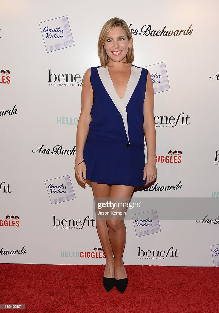Actress <a gi-track='captionPersonalityLinkClicked' href=/galleries/search?phrase=June+Diane+Raphael&family=editorial&specificpeople=5923890 ng-click='$event.stopPropagation()'>June Diane Raphael</a> attends the premiere of Gravitas Ventures' 'Ass Backwards' at the Vista Theatre on October 30, 2013 in Los Angeles, California.