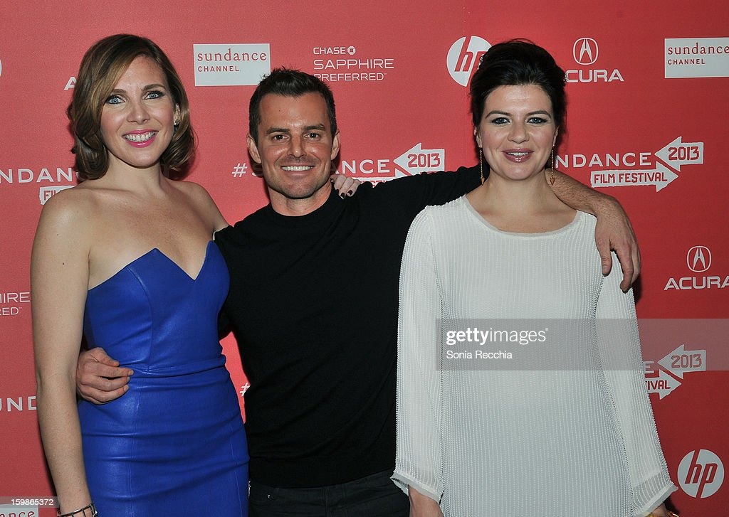 Actress June Diane Raphael director Chris Nelson and actress Casey Wilson attend the 'Ass Backwards' premiere at Egyptian Theatre during the 2013...