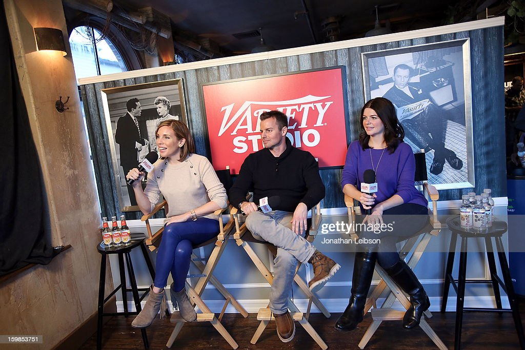 Actress June Diane Raphael, director Chris Nelson and screenwriter/actress Casey Wilson attend Day 3 of the Variety Studio At 2013 Sundance Film Festival on January 21, 2013 in Park City, Utah.