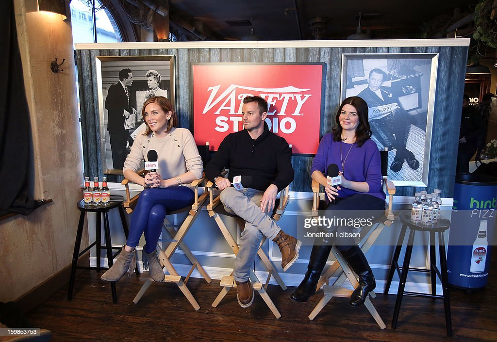 Actress June Diane Raphael director Chris Nelson and screenwriter/actress Casey Wilson attend Day 3 of the Variety Studio At 2013 Sundance Film...