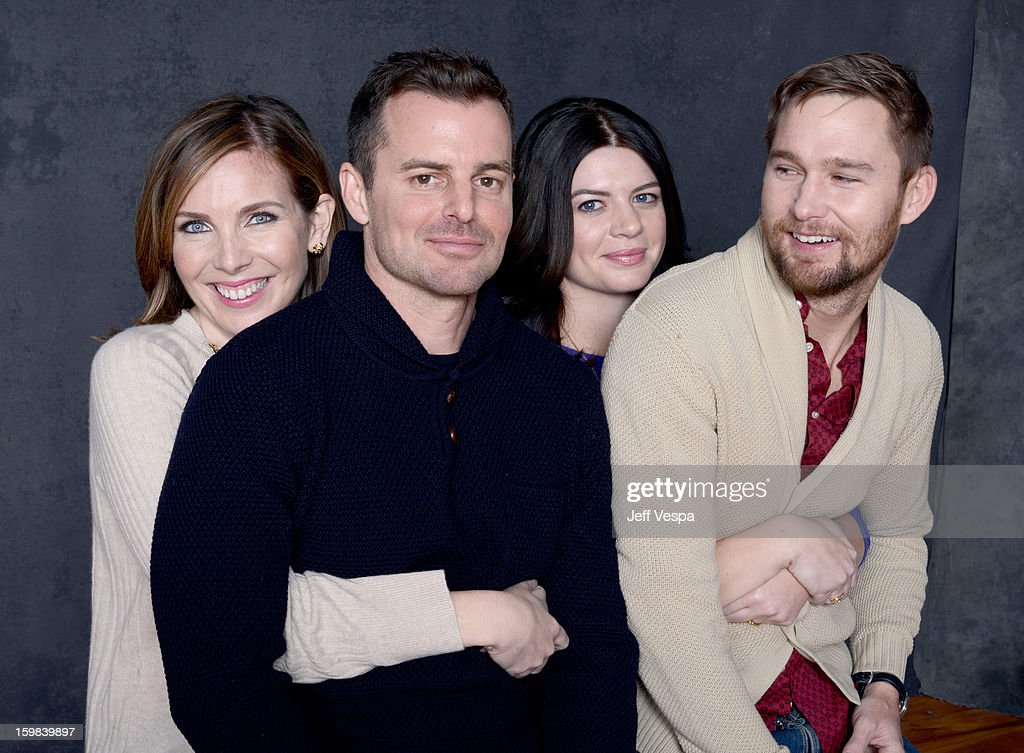 Actress June Diane Raphael filmmaker Chris Nelson actress Casey Wilson and actor Brian Geraghty pose for a portrait during the 2013 Sundance Film...