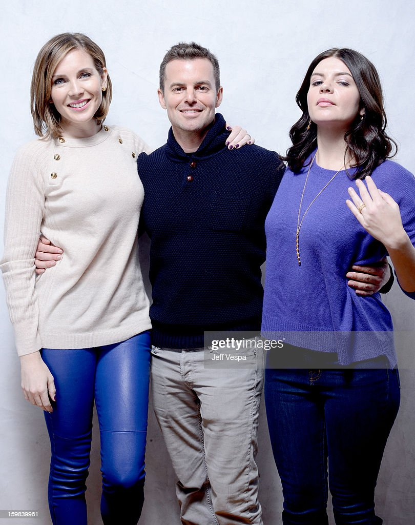 Actress June Diane Raphael filmmaker Chris Nelson and actress Casey Wilson pose for a portrait during the 2013 Sundance Film Festival at the...