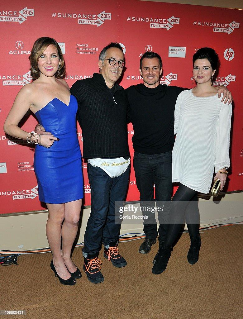 Actress June Diane Raphael Sundance Film Festival Director John Cooper director Chris Nelson and actress Casey Wilson attend the 'Ass Backwards'...