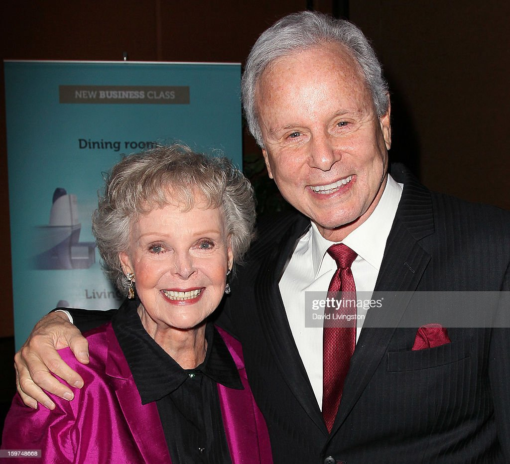 Actress <a gi-track='captionPersonalityLinkClicked' href=/galleries/search?phrase=June+Lockhart&family=editorial&specificpeople=856438 ng-click='$event.stopPropagation()'>June Lockhart</a> (L) and Lifetime Achievement Award honoree TV personality Steve Edwards attend the Radio & Television News Association of Southern California's 63rd Annual Golden Mike Awards at Universal City Hilton & Towers on January 19, 2013 in Universal City, California.