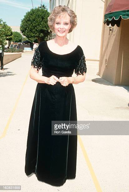 Actress June Lockhart attends the 38th Annual Primetime Emmy Awards on September 21 1986 at the Pasadena Civic Auditorium in Pasadena California