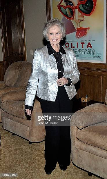 Actress June Lockhart attends the birthday celebration and fundraiser for Representative Diane E Watson at a private residence on November 14 2009 in...