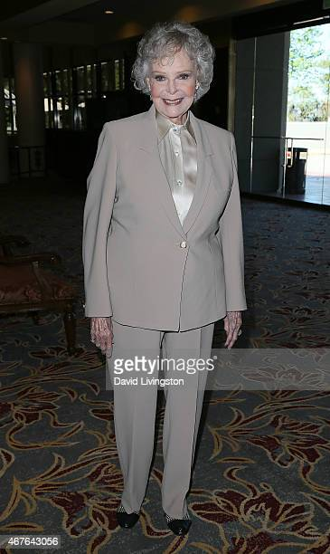 Actress June Lockhart attends the Hollywood Chamber of Commerce honoring her with its Lifetime Achievement Award at the Universal Hilton Hotel on...