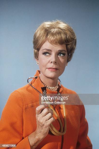 Actress June Lockhart poses for a portrait holding a stethoscope in New York