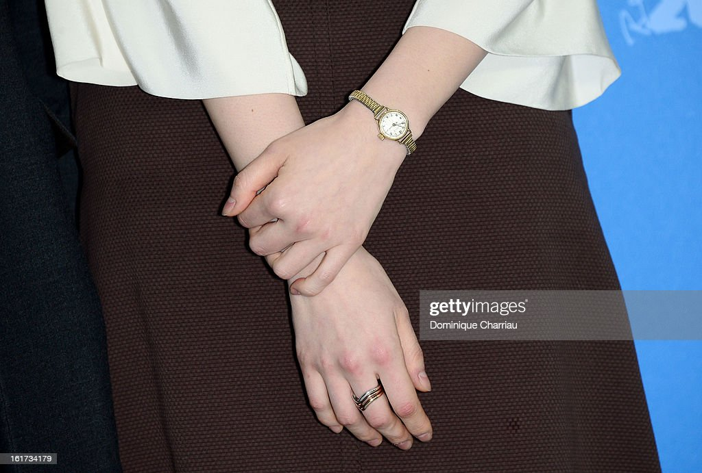 Actress Jung Eun Chae (watch detail) attends the 'Nobody's Daughter Haewon' Photocall during the 63rd Berlinale International Film Festival at the Grand Hyatt Hotel on February 15, 2013 in Berlin, Germany.
