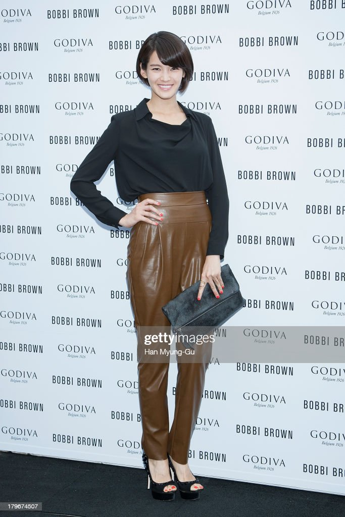 Actress Jung Ka-Eun attends during the Bobbi Brown 'Rich Chocolate Collection' Launching Party With Godiva at Godiva flagship store on September 6, 2013 in Seoul, South Korea.