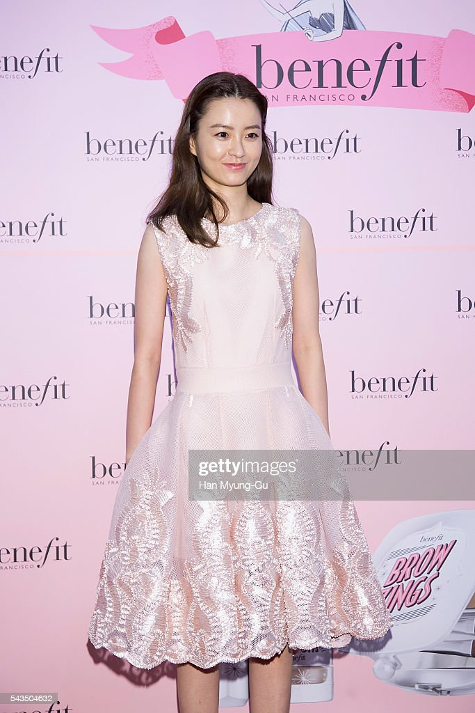 Actress Jung Yu-Mi attends the photocall for 'Benefit' New Brow Collection Launch at Lotte Department Store on June 28, 2016 in Seoul, South Korea.