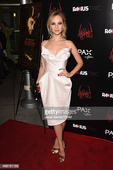 Actress Juno Temple arrives at the Los Angeles premiere of RADiUSTWC's 'Horns' at ArcLight Hollywood on October 30 2014 in Hollywood California