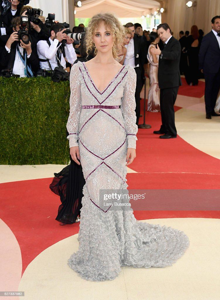 Actress Juno Temple attends the 'Manus x Machina: Fashion In An Age Of Technology' Costume Institute Gala at Metropolitan Museum of Art on May 2, 2016 in New York City.