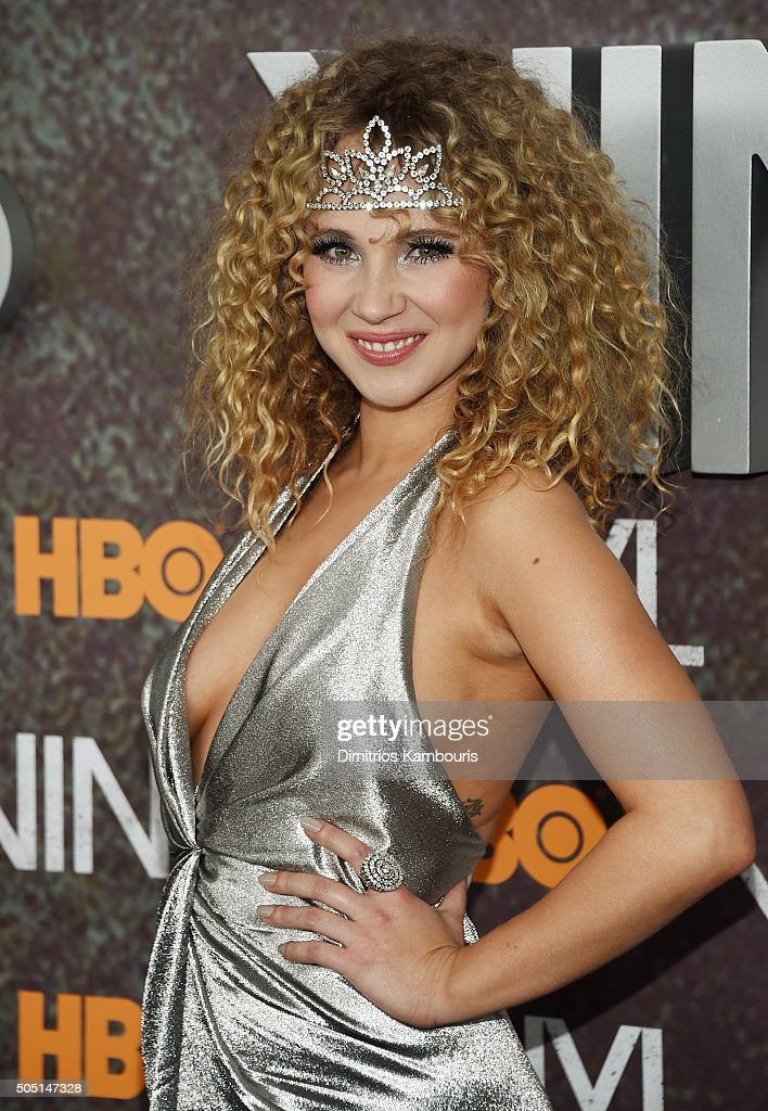 Actress Juno Temple attends the New York premiere of 'Vinyl' at Ziegfeld Theatre on January 15 2016 in New York City