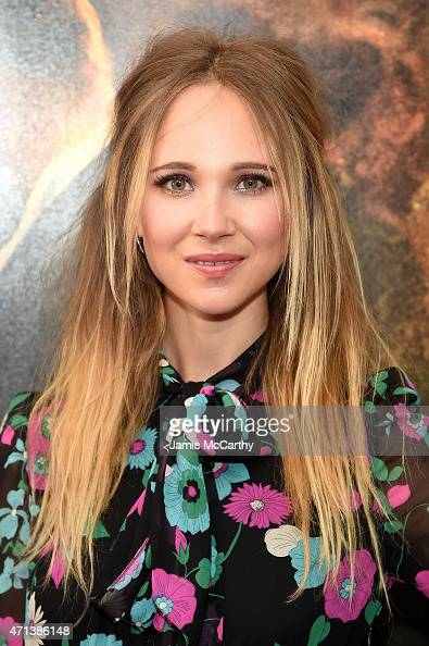 Actress Juno Temple attends the New York special screening 'Far From The Madding Crowd' at The Paris Theatre on April 27 2015 in New York City