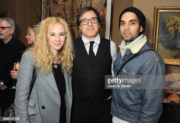 Actress Juno Temple director David O Russell and actor James Floyd attend a private screening of 'American Hustle' hosted by director David O Russell...