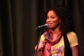 Actress Jurnee Smollet hosts a night of slam poetry presented by BET News' YOU VOTE At Nuyorican Caf on October 22 2008 in New York City