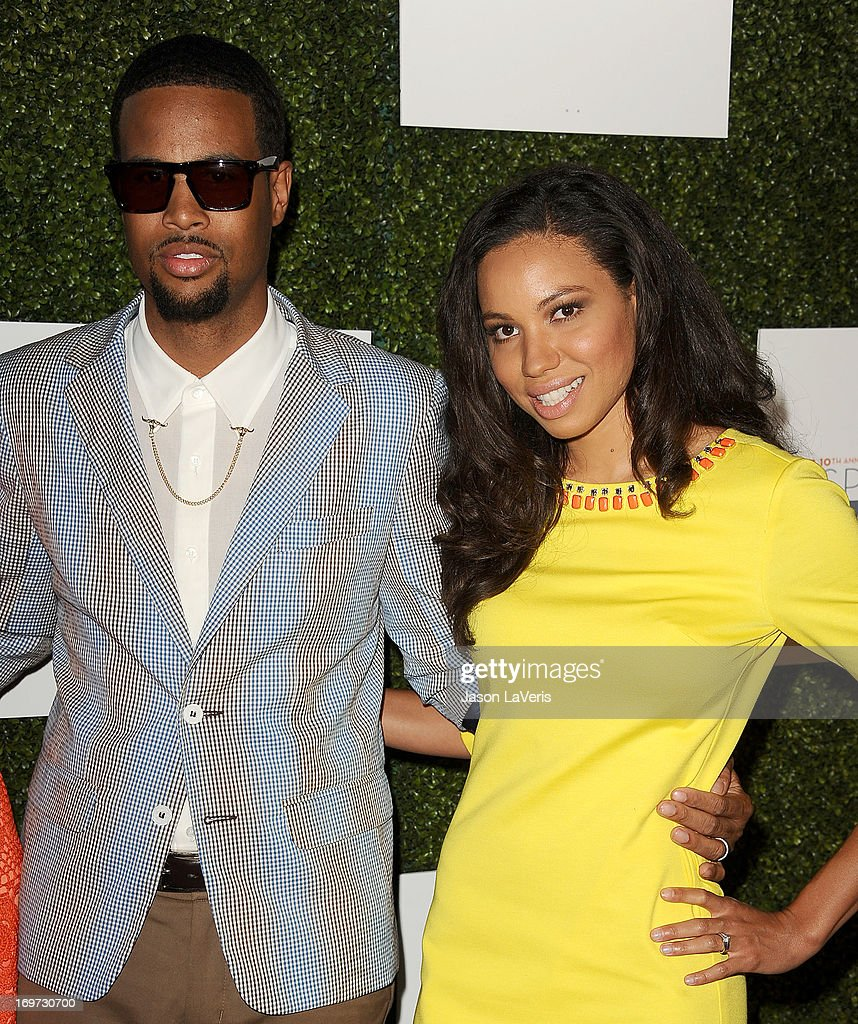 Actress <a gi-track='captionPersonalityLinkClicked' href=/galleries/search?phrase=Jurnee+Smollett&family=editorial&specificpeople=614220 ng-click='$event.stopPropagation()'>Jurnee Smollett</a> (R) and husband Josiah Bell attend Step Up Women's Network 10th annual Inspiration Awards at The Beverly Hilton Hotel on May 31, 2013 in Beverly Hills, California.