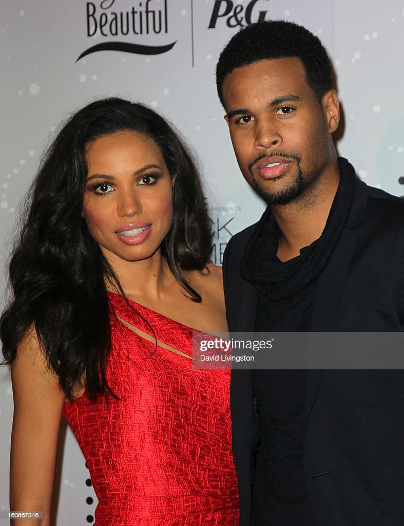 Actress <a gi-track='captionPersonalityLinkClicked' href=/galleries/search?phrase=Jurnee+Smollett&family=editorial&specificpeople=614220 ng-click='$event.stopPropagation()'>Jurnee Smollett</a> (L) and husband musician Josiah Bell attend the 4th Annual ESSENCE Black Women In Music honoring Lianne La Havas and Solange Knowles at Greystone Manor Supperclub on February 6, 2013 in West Hollywood, California.