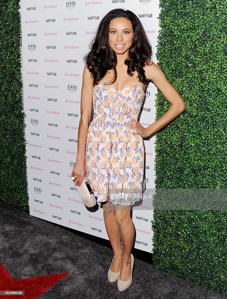 Actress Jurnee Smollett arrives at the Vanity Fair And Juicy Couture Celebration Of The 2013 Vanities Calendar at Chateau Marmont on February 18, 2013 in Los Angeles, California.