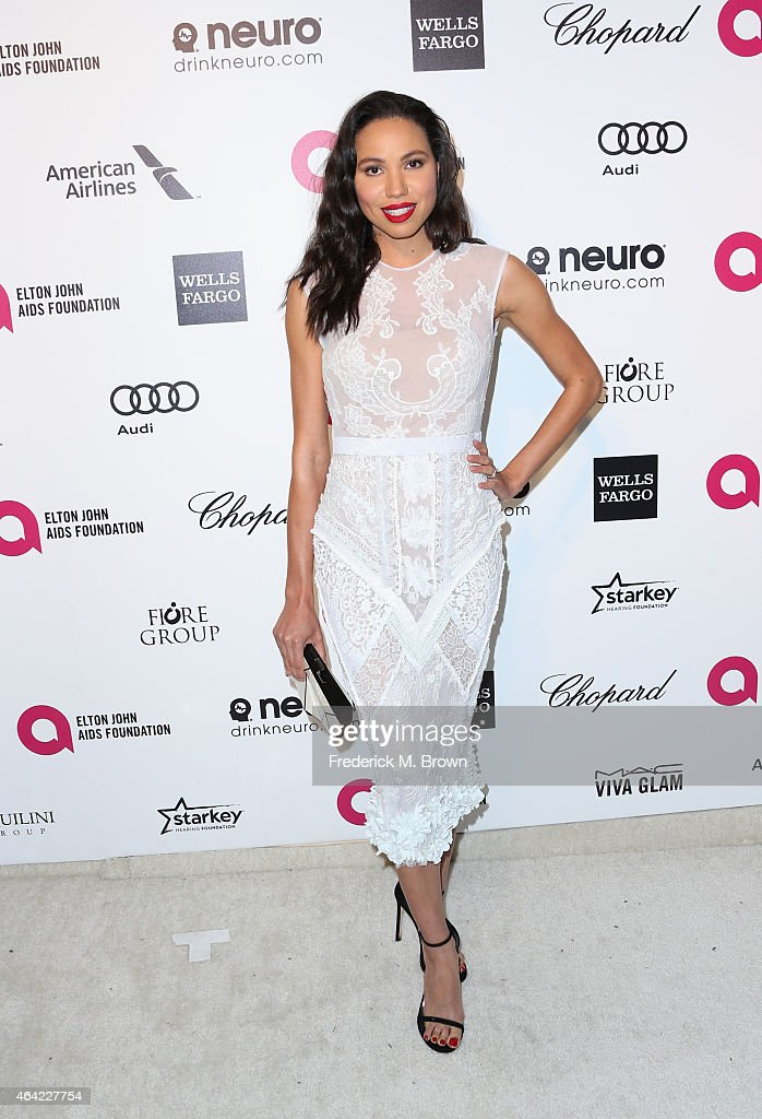 Actress Jurnee Smollett attends the 23rd Annual Elton John AIDS Foundation's Oscar Viewing Party on February 22, 2015 in West Hollywood, California.