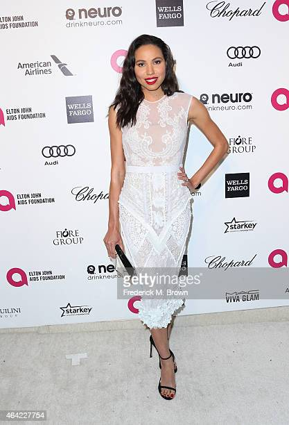 Actress Jurnee Smollett attends the 23rd Annual Elton John AIDS Foundation's Oscar Viewing Party on February 22 2015 in West Hollywood California