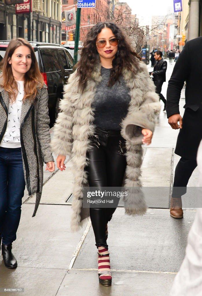Actress Jurnee Smollett Bell is seen walking in Soho on March 7, 2017 in New York City.