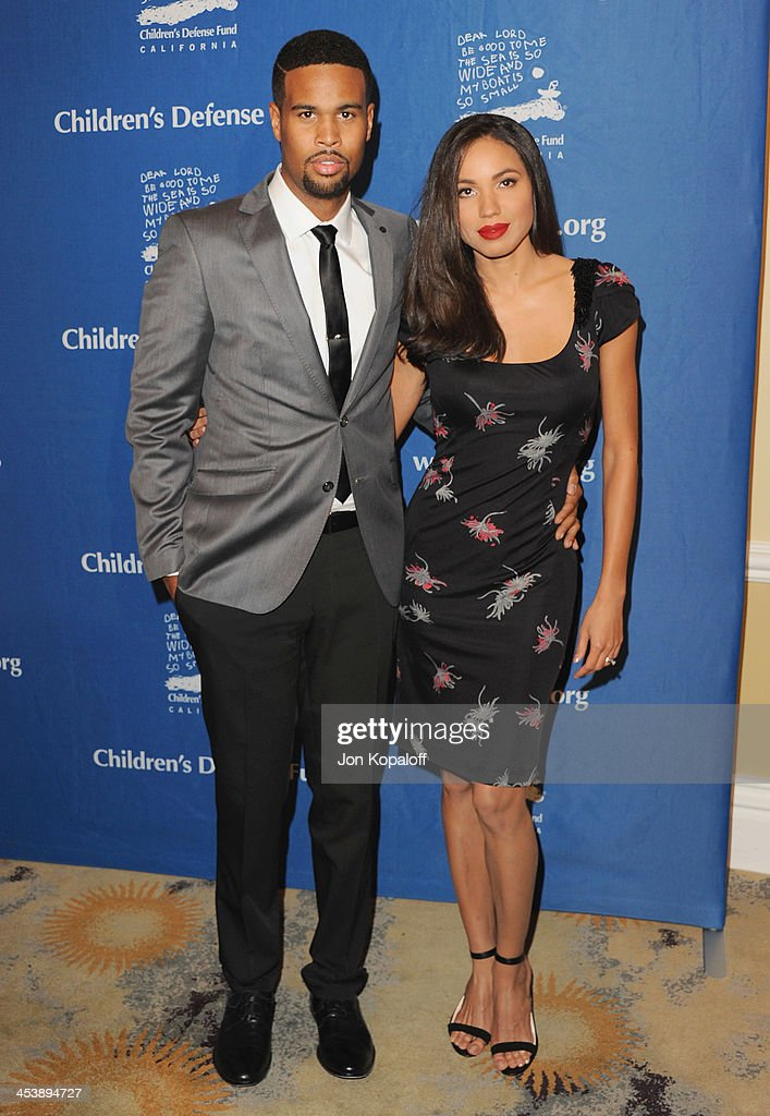 Actress Jurnee Smollett-Bell and husband Josiah Bell arrive at the Children's Defense Fund 23rd Annual Beat The Odds Awards at Beverly Hills Hotel on December 5, 2013 in Beverly Hills, California.