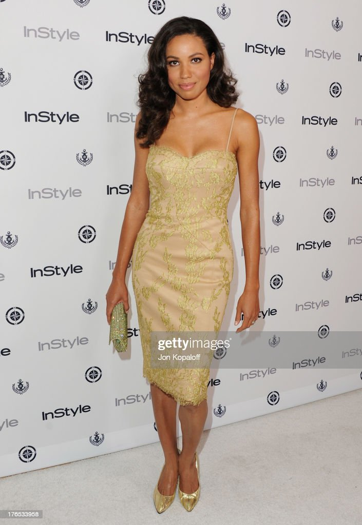 Actress <a gi-track='captionPersonalityLinkClicked' href=/galleries/search?phrase=Jurnee+Smollett&family=editorial&specificpeople=614220 ng-click='$event.stopPropagation()'>Jurnee Smollett</a>-Bell arrives at the 13th Annual InStyle Summer Soiree at Mondrian Los Angeles on August 14, 2013 in West Hollywood, California.
