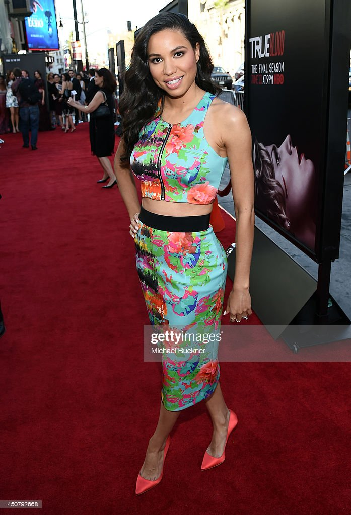 Actress <a gi-track='captionPersonalityLinkClicked' href=/galleries/search?phrase=Jurnee+Smollett&family=editorial&specificpeople=614220 ng-click='$event.stopPropagation()'>Jurnee Smollett</a>-Bell attends Premiere Of HBO's 'True Blood' Season 7 And Final Season at TCL Chinese Theatre on June 17, 2014 in Hollywood, California.