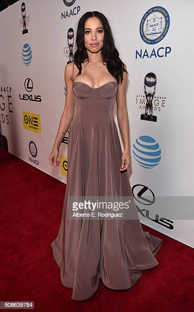 Actress Jurnee SmollettBell attends the 47th NAACP Image Awards presented by TV One at Pasadena Civic Auditorium on February 5 2016 in Pasadena...