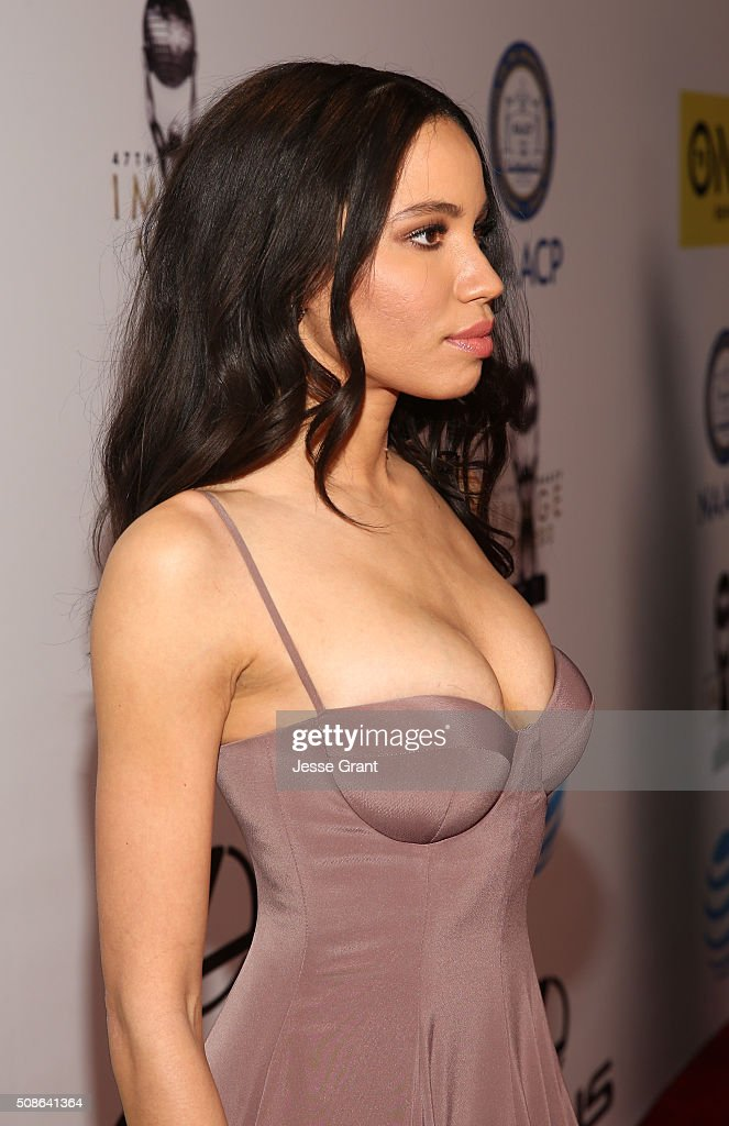 Actress <a gi-track='captionPersonalityLinkClicked' href=/galleries/search?phrase=Jurnee+Smollett&family=editorial&specificpeople=614220 ng-click='$event.stopPropagation()'>Jurnee Smollett</a>-Bell attends the 47th NAACP Image Awards presented by TV One at Pasadena Civic Auditorium on February 5, 2016 in Pasadena, California.