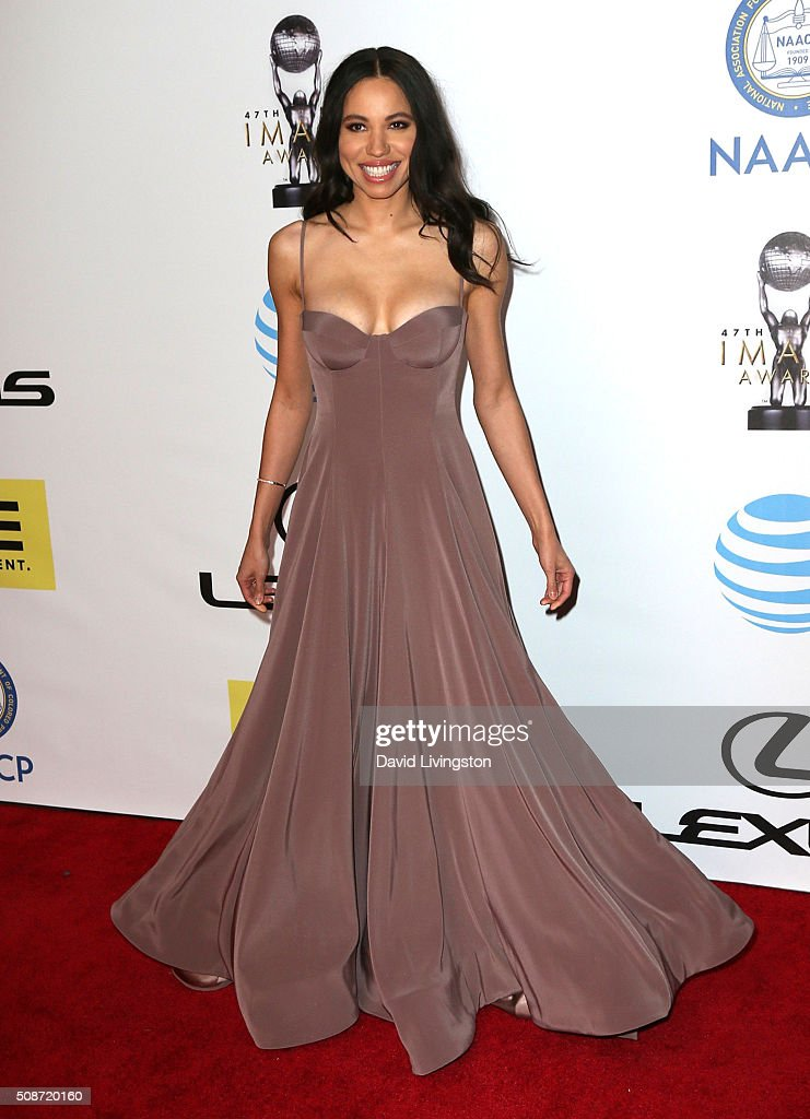 Actress Jurnee Smollett-Bell attends the 47th NAACP Image Awards presented by TV One at Pasadena Civic Auditorium on February 5, 2016 in Pasadena, California.