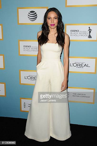 Actress Jurnee SmollettBell attends the Essence 9th annual Black Women In Hollywood event at the Beverly Wilshire Four Seasons Hotel on February 25...