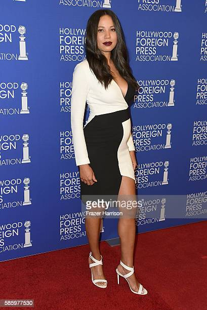 Actress Jurnee SmollettBell attends the Hollywood Foreign Press Association's Grants Banquet at the Beverly Wilshire Four Seasons Hotel on August 4...
