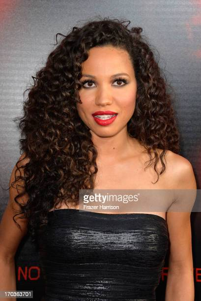 Actress Jurnee SmollettBell attends the premiere of HBO's 'True Blood' Season 6 at ArcLight Cinemas Cinerama Dome on June 11 2013 in Hollywood...