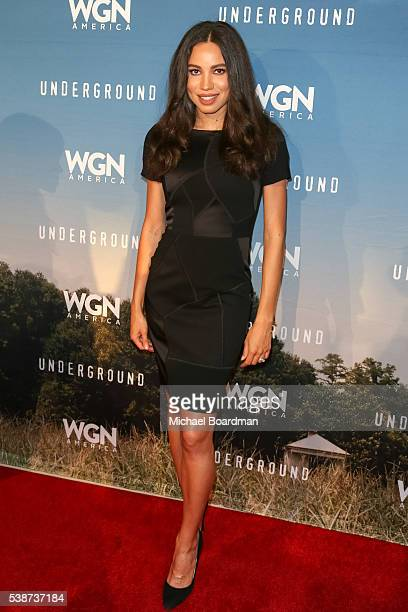 Actress Jurnee SmollettBell attends the screening and panel for WGN America's 'Underground' at the Landmark Theatre on June 07 2016 in Los Angeles...
